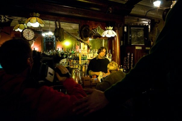 Filming on location at the Irish Lion in Bloomington, Indiana. Photo by Chris Eller Photography.